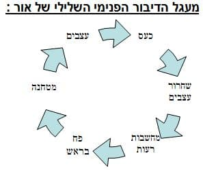 תמונה המתארת את מעגל הדיבור ההשלילי הפנימי של אור